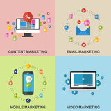 Set of Marketing Design Concepts. Royalty Free Stock Image