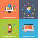 Set of Marketing Design Concepts. Stock Photo