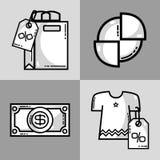 Set marketing information with statistics strategy. Vector illustration Stock Photo