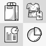 Set marketing information with statistics strategy. Vector illustration Stock Photography