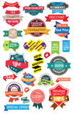 Set marketing labels Stock Image