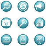 Set marketingowe ikony Ilustracji