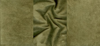 Set of marsh suede leather textures Royalty Free Stock Image