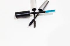 Set of mascara brushes isolated on white. Stock Image