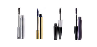 Set of mascara wand and tube Royalty Free Stock Images