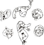 Set of mascot templates Stock Photo
