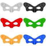 A set of masks. Flat design,  illustration Royalty Free Stock Photo