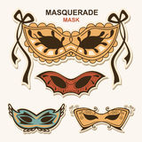 Set masquerade masks Royalty Free Stock Photo
