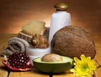 Set for massage or body care Royalty Free Stock Photos