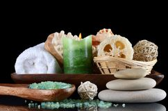 Set for massage and a peeling - SPA-procedures Royalty Free Stock Images