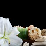 Set for massage and a peeling - SPA-procedures Royalty Free Stock Photography
