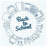 Set materiały dla uczni ilustracji