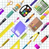 Set materiały dla uczni royalty ilustracja