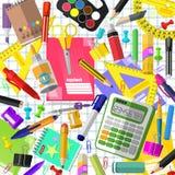 Set materiały dla uczni ilustracja wektor