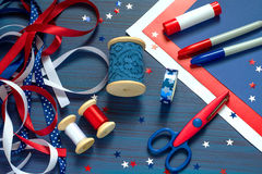 Set of materials for making souvenirs and gifts for Independence stock photo