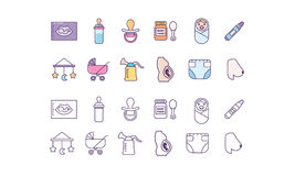 Set of Maternity Icons Stock Images