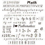 Set of mathematical signs and symbols Royalty Free Stock Photography