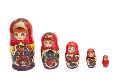 Set of matrioshka dolls Stock Images