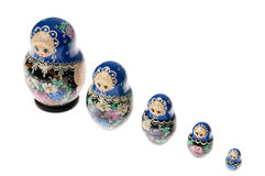 Set of matryoshka dolls isolated on white Royalty Free Stock Image