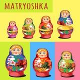 Set of matryoshka, Russian folk toy Royalty Free Stock Image
