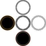 Set of mayan circles Royalty Free Stock Images