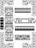 Set of Mayan patterns Stock Photo