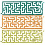 Set of Maze. This Is Illustration Set Of Maze Stock Image