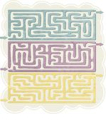 Set of Maze Stock Photo