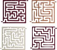 Set of Maze Stock Image