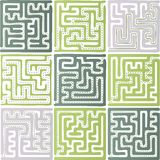 Set of Maze Stock Photography