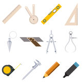 Set of measure tools icons Stock Photo