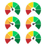 Set of measuring icons. Speedometer or rating meter signs infographic gauge elements Royalty Free Stock Photography