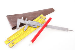 Set of measuring tools Royalty Free Stock Image