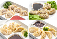 Set of meat dumplings Stock Photo