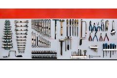 Set of mechanic tools Stock Image
