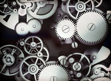 Set of mechanical gears Royalty Free Stock Photography
