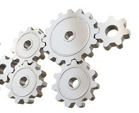 Set of mechanical gears Royalty Free Stock Photos