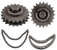 Set of mechanical parts Stock Images