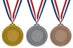 Set Medaillen Stockfotografie