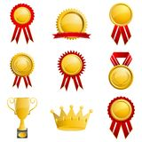 Set of Medal Royalty Free Stock Images