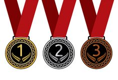 Set of medal  illustration Stock Images