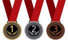 Set of medal  illustration Stock Images