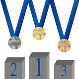 Set of medal. Pedestal Royalty Free Stock Photography