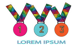 Set medal with place for text Royalty Free Stock Images