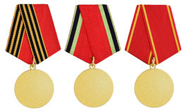 Set of medal on white royalty free stock image
