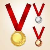 Set medale Fotografia Stock