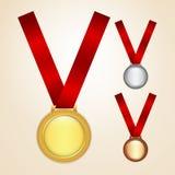 Set medale Zdjęcie Stock