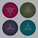 Set of the medallions. Celtic motif in the medallion Stock Image