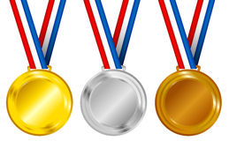 Set of Medals Royalty Free Stock Photography