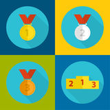 Set of medals Royalty Free Stock Images